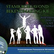 Stamkroegavond KB bekendmaking