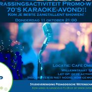 Karaoke-avond in de Promo-week