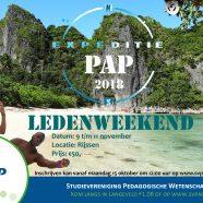 Ledenweekend: Expeditie PAP