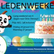 Ledenweekend: Kinderfeestje!