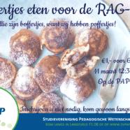 Poffertjes eten voor de RAG-week!