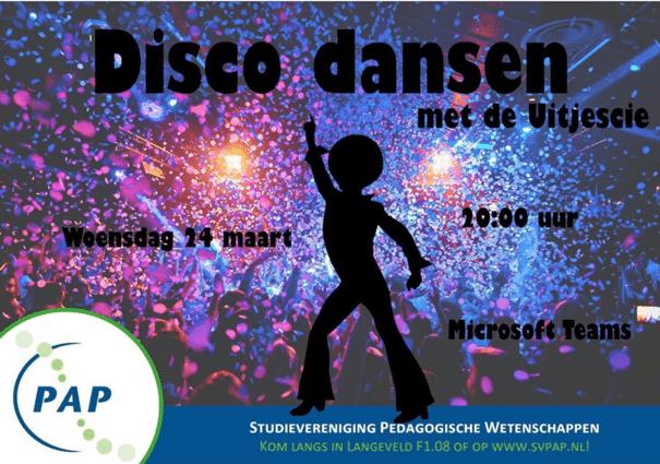 Disco dansen met de Uitjescie!